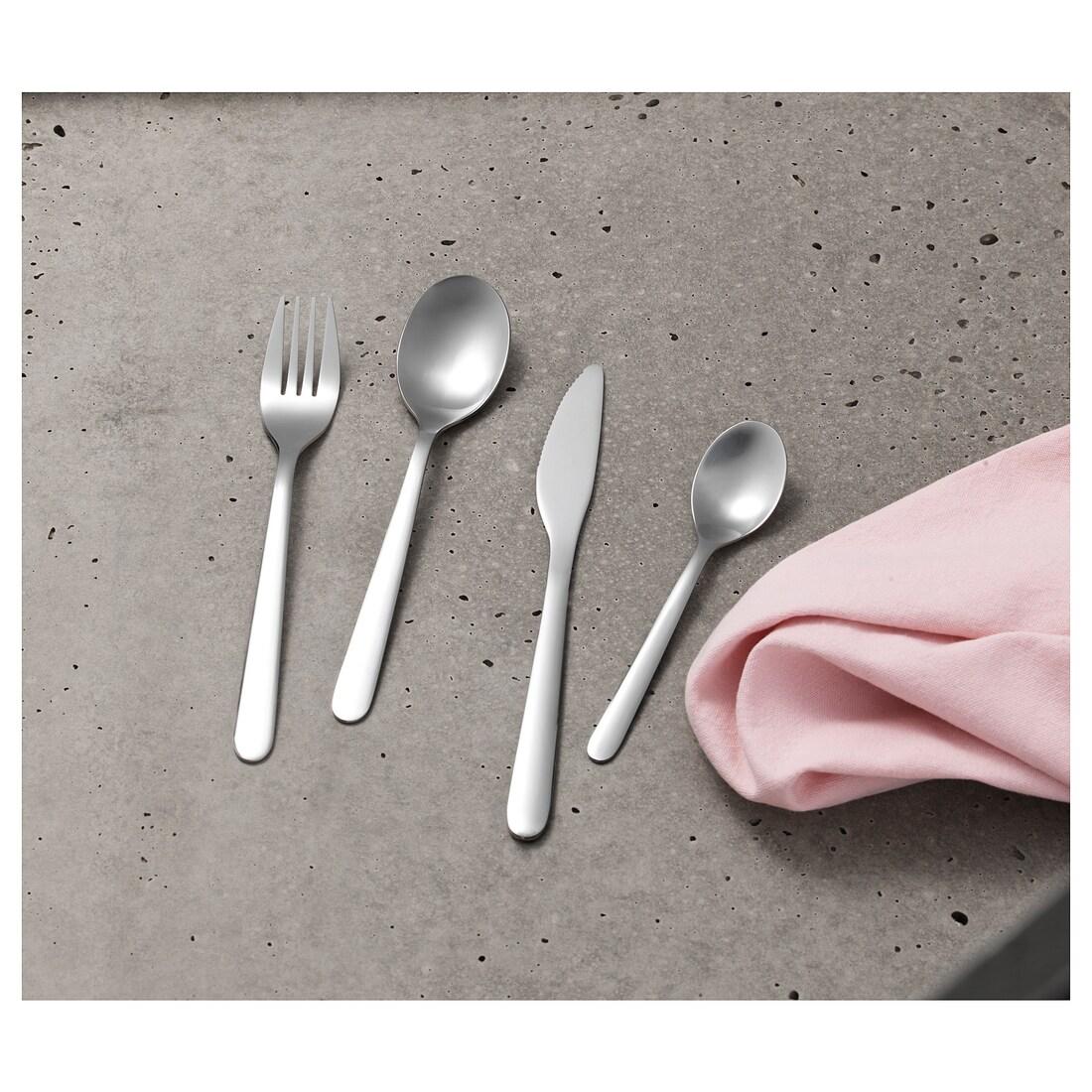 ايكيا طقم أدوات تناول الطعام معدني سادة 4قطعFÖRNUFT متجر 15 وأقل