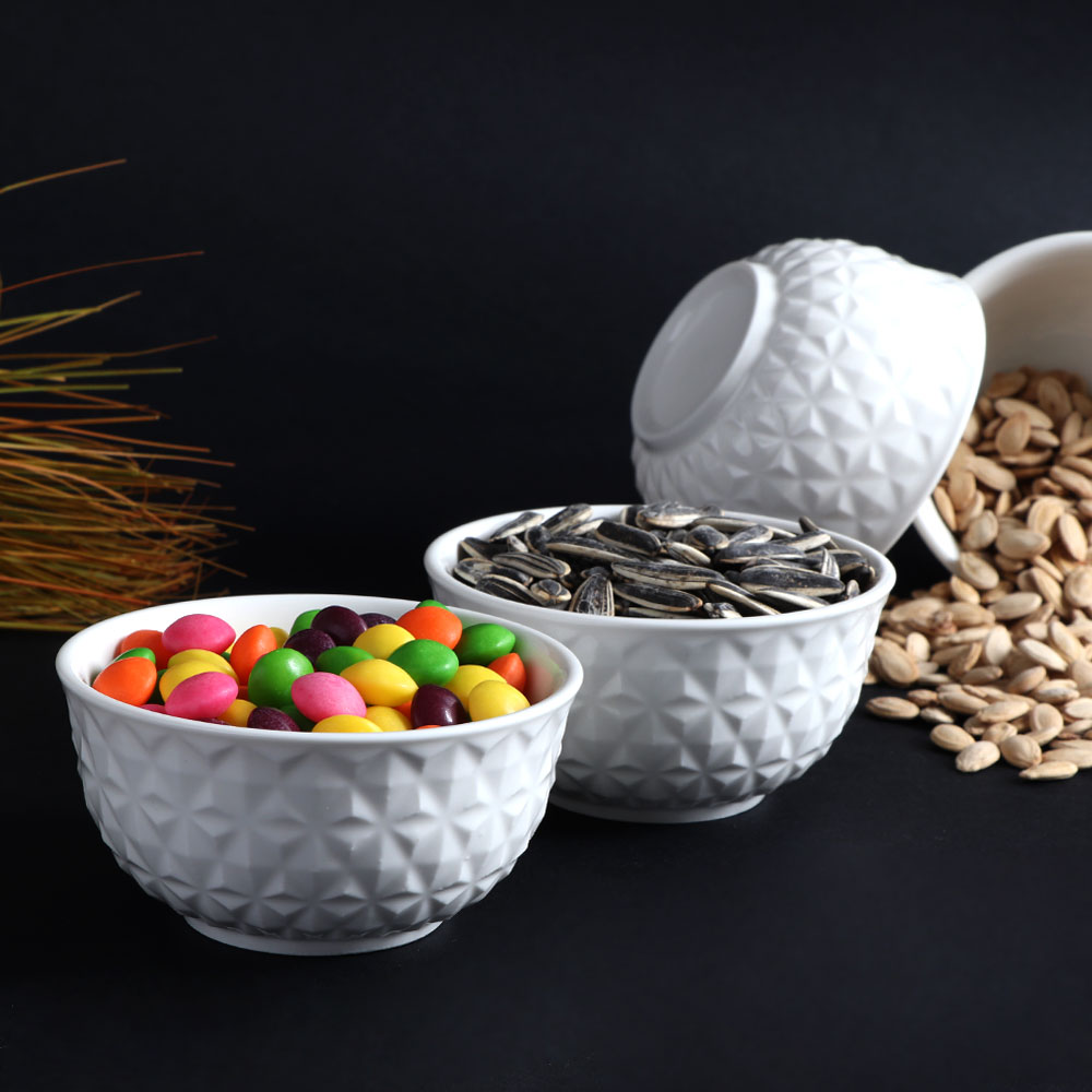 Plain white ceramic bowl 4.5 cm متجر 15 وأقل