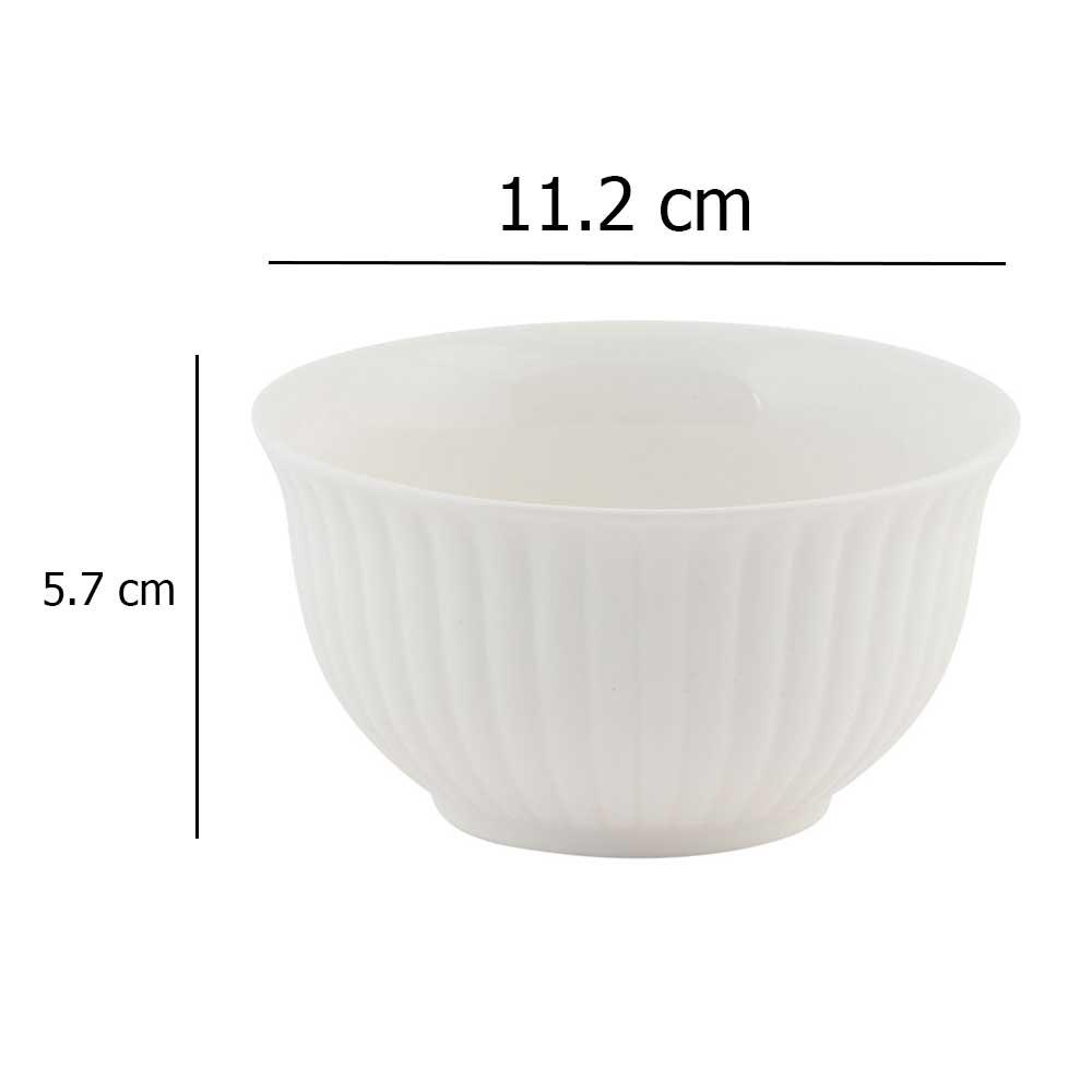 Plain white ceramic bowl 11.2 cm متجر 15 وأقل