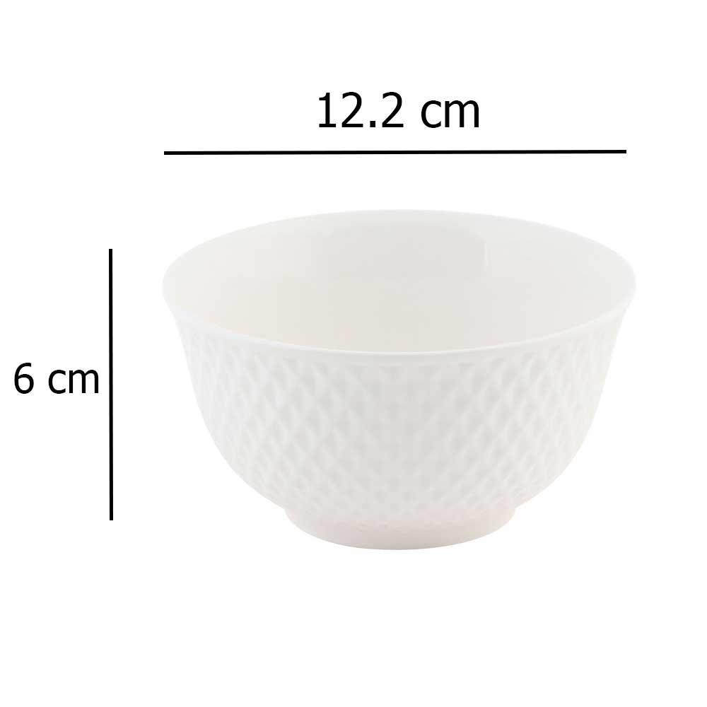 Plain white ceramic bowl 6 cm متجر 15 وأقل