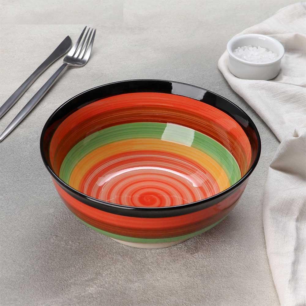 Bowl of colored ceramic soup متجر 15 وأقل