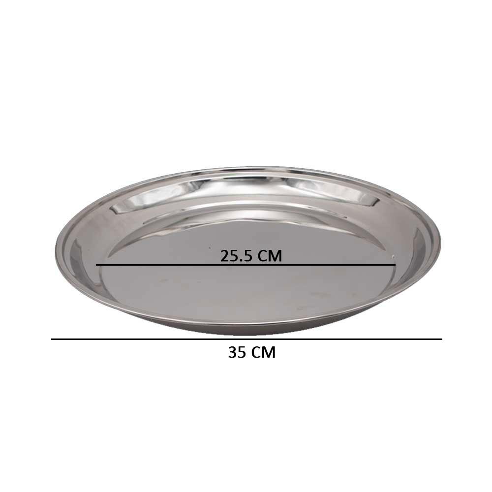 صينية استيل دائرية للتقديم مقاس 3 متجر 15 وأقل
