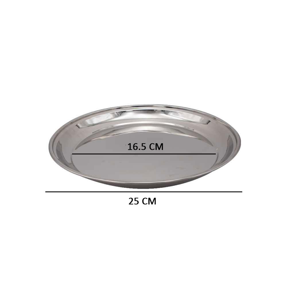 صينية استيل دائرية للتقديم مقاس 1 متجر 15 وأقل