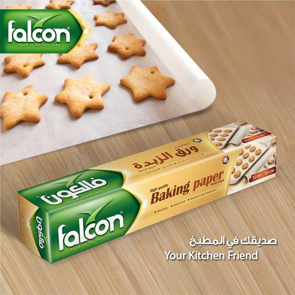 Falcon Baking paper roll 10 * 30 cm متجر 15 وأقل