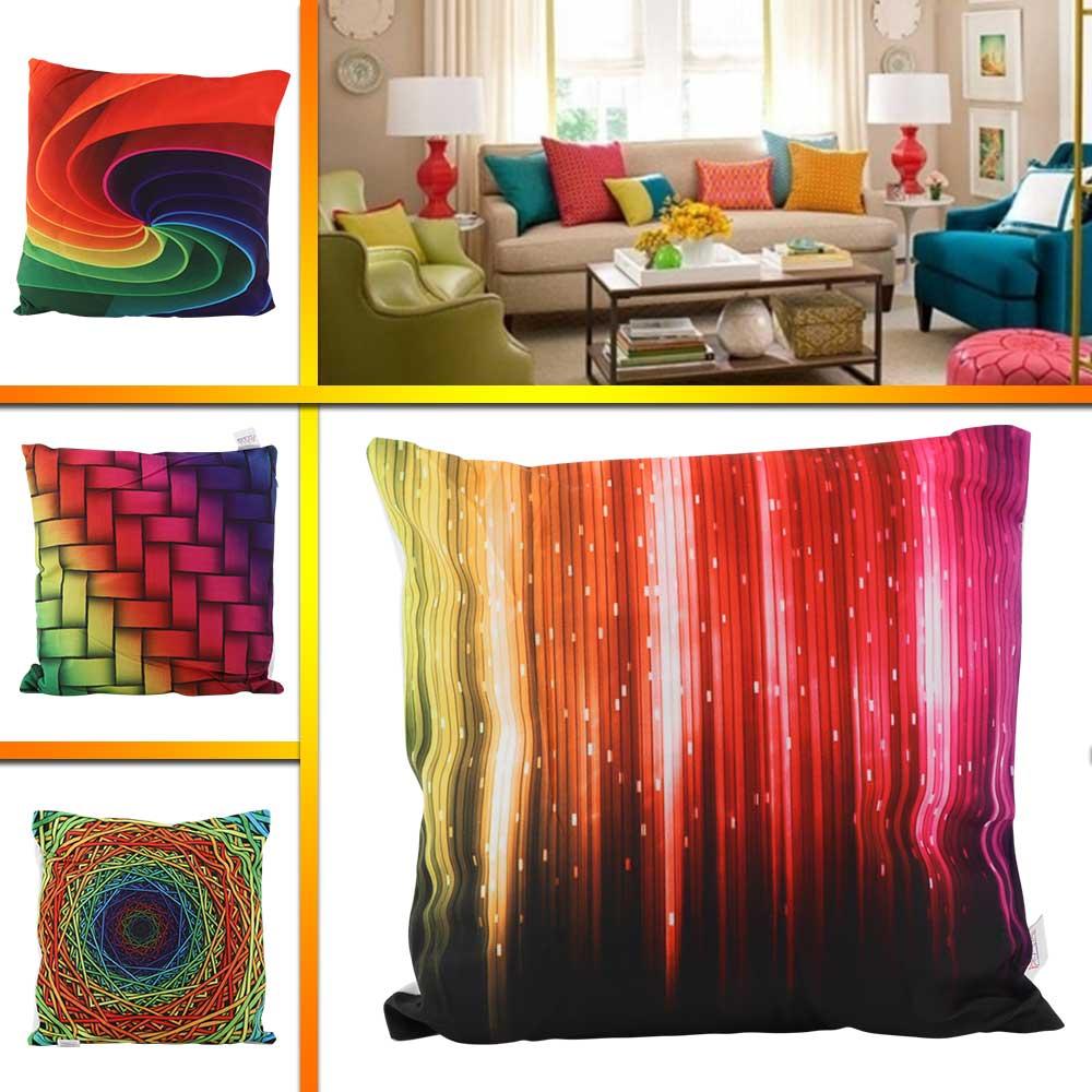 33 * 33 square cotton pillow different color prints متجر 15 وأقل