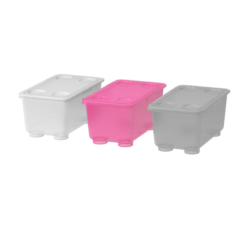 صندوق بلاستيكي بغطاء اللون الفوشي 17x10 سم GLIS متجر 15 وأقل