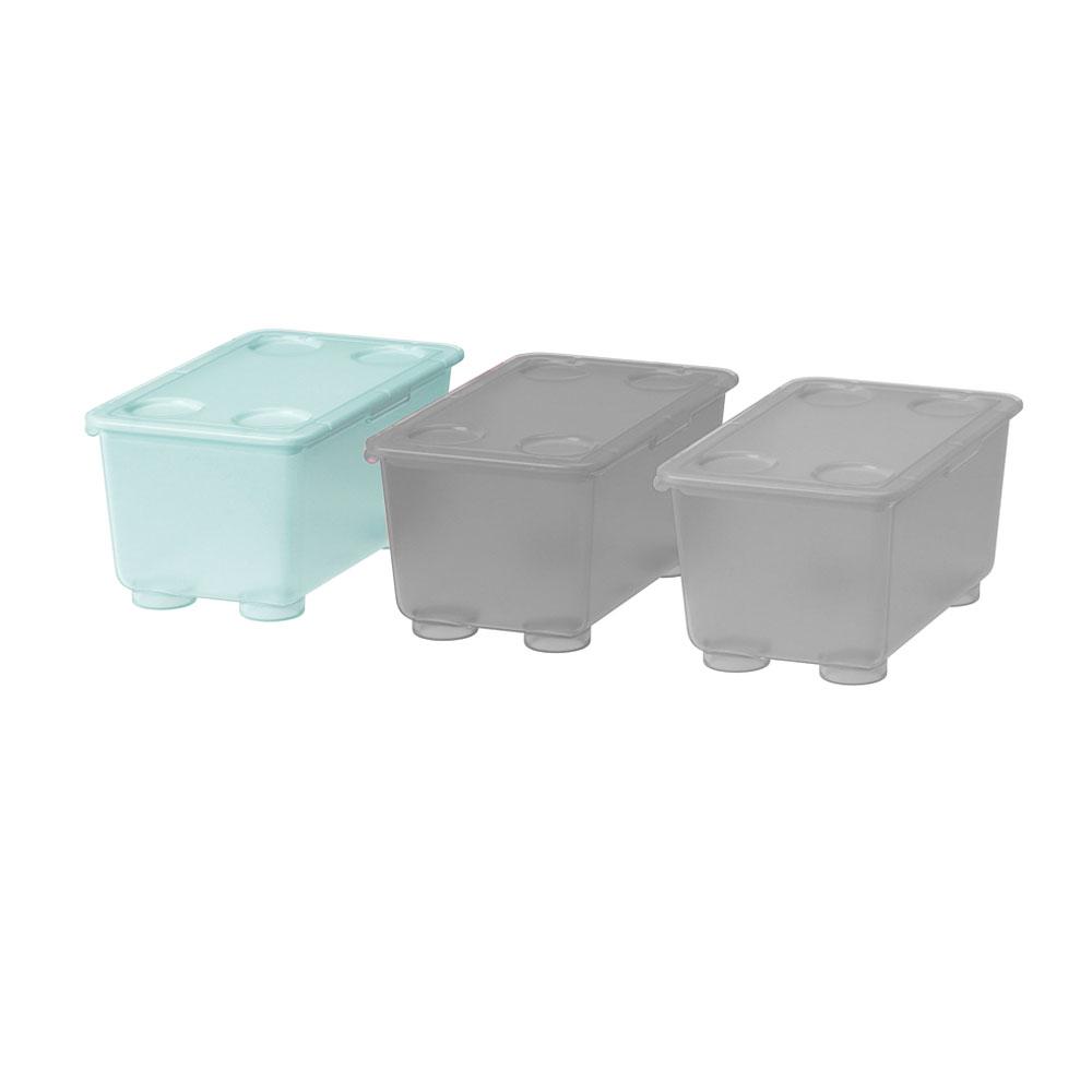 صندوق بلاستيكي بغطاء اللون التيفاني 17x10 سم GLIS متجر 15 وأقل