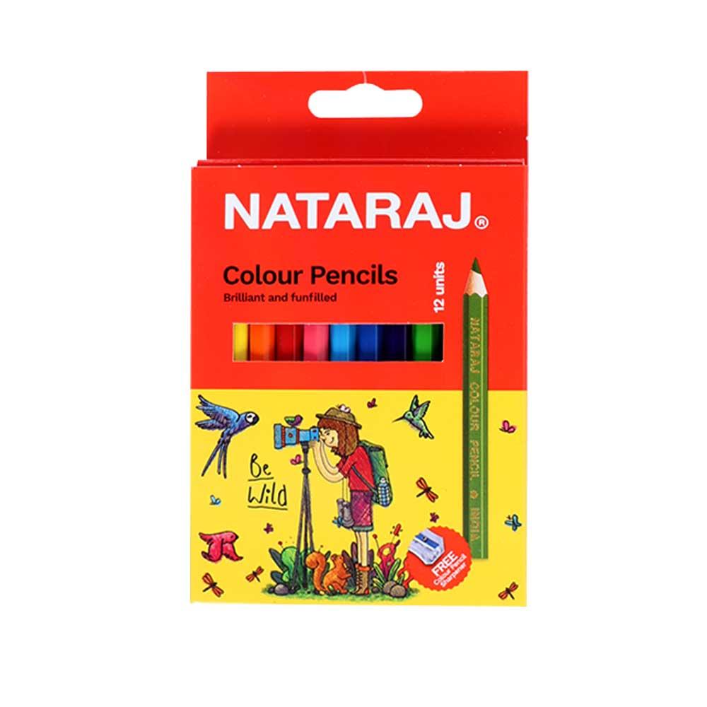 ناتاراج بكت ألوان خشبية مع البراية 12 لون 12 سم متجر 15 وأقل