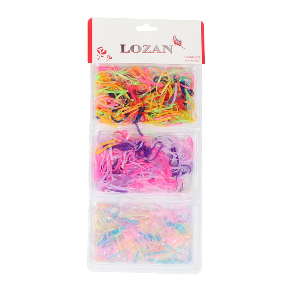 Elastic hair ties in wavy colors متجر 15 وأقل