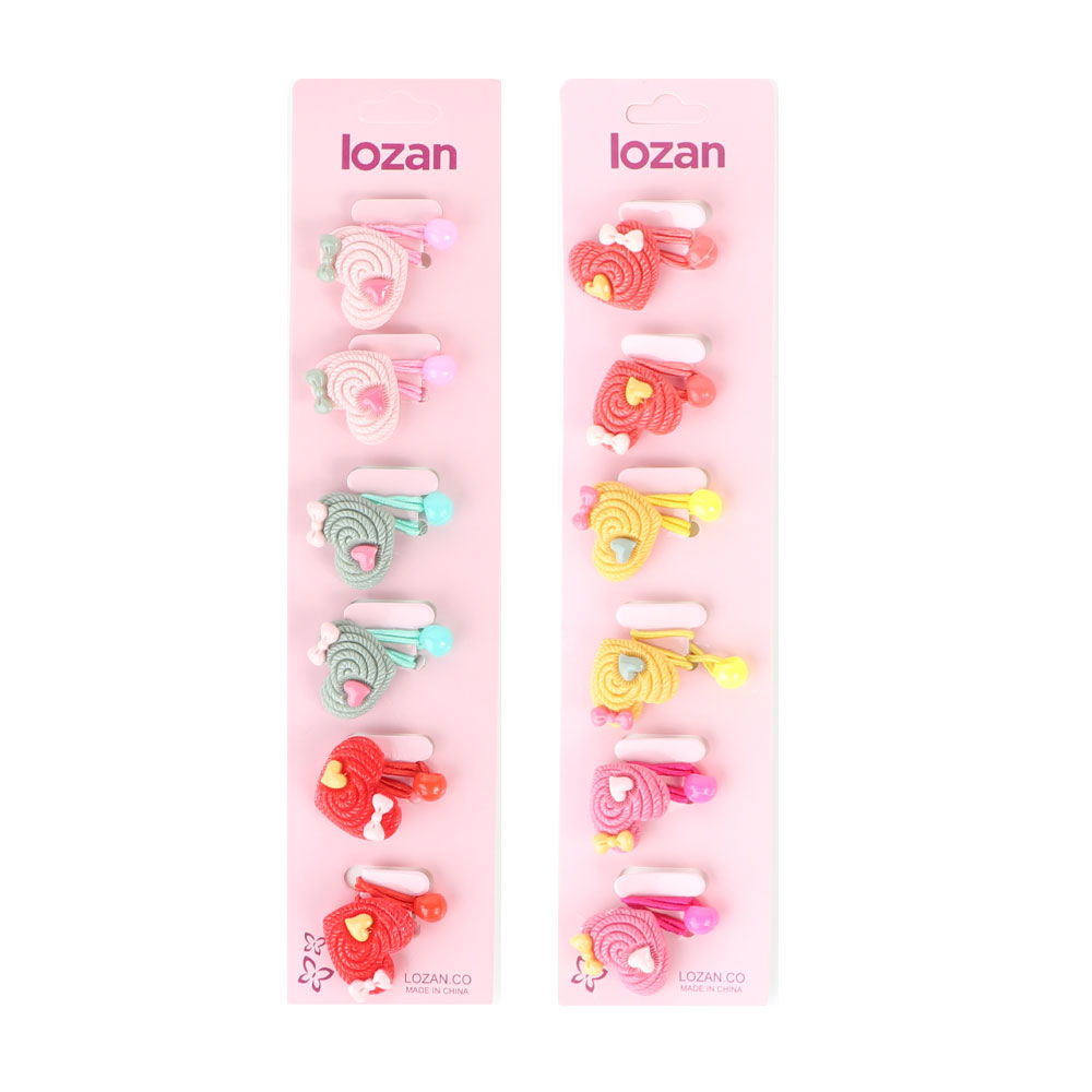 A set of hair ties hearts shaped 6 pieces متجر 15 وأقل