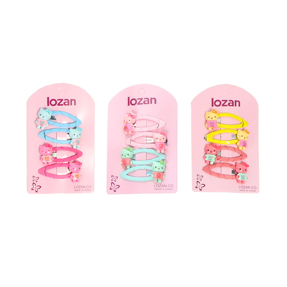 A set of hair clips LoLo kiti in different colors small 4 PCs متجر 15 وأقل