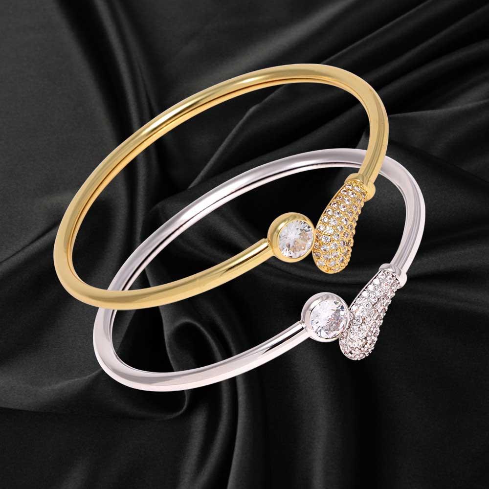 Wrap bracelet studded with zircon lobes متجر 15 وأقل