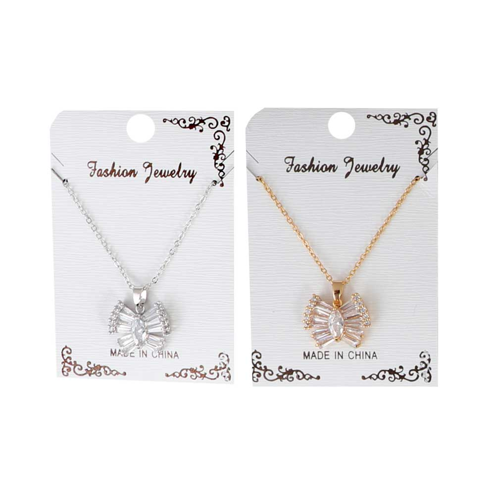 Butterfly pendant necklace with zircon lobes متجر 15 وأقل