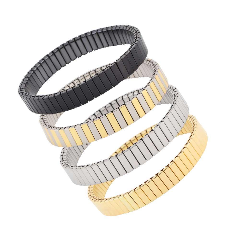 Rectangles stretch flexible metal bracelet متجر 15 وأقل