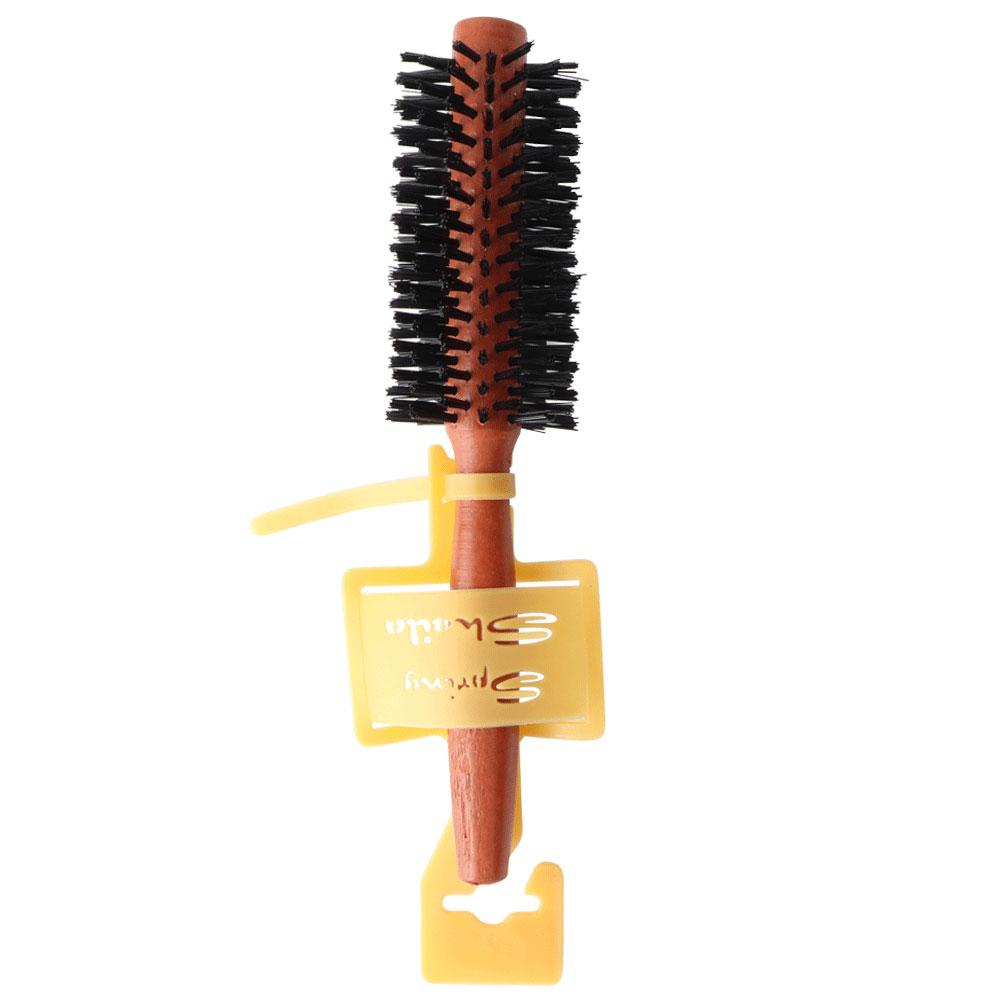 فرشة شعر خشبية مدورة للاستشوار مقاس1 متجر 15 وأقل