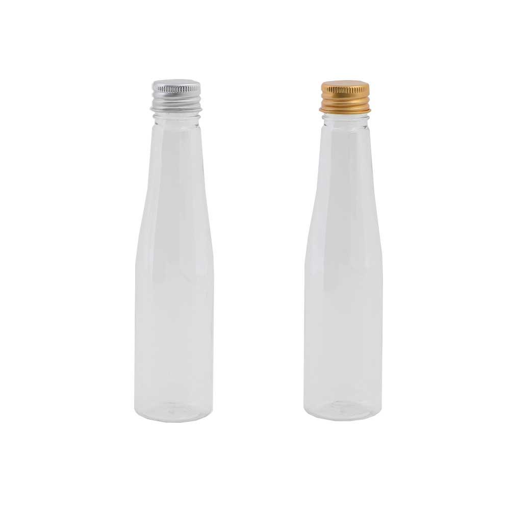 قارورة بلاستيك شفافة لتوزيعات المناسبات بغطاء معدني 3 قطع موديل 1 متجر 15 وأقل