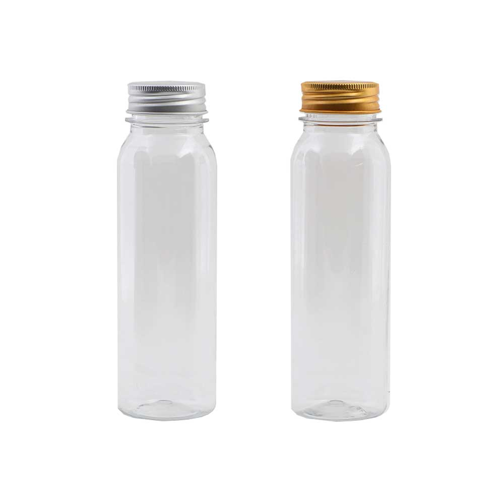 Transparent plastic bottle for occasions with metal cover 3 PCS model 2 متجر 15 وأقل