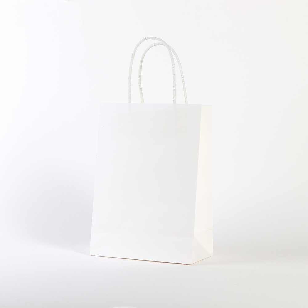 نوبل أكياس هدايا ورقية سادة أبيض صغير 20*15 سم متجر 15 وأقل