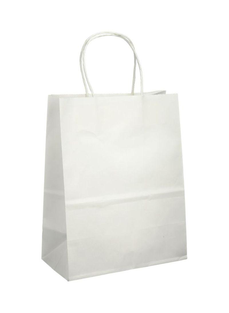نوبل أكياس هدايا ورقية سادة أبيض كبير 32*25 سم متجر 15 وأقل