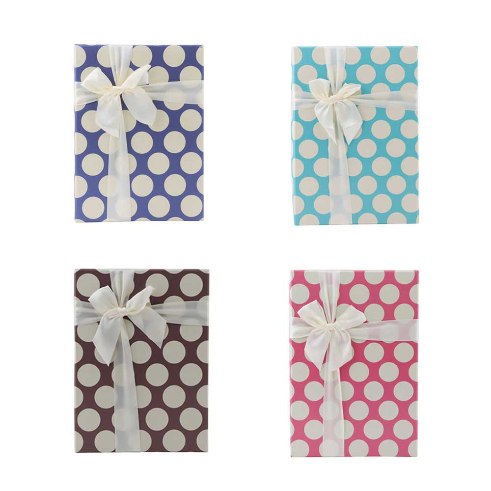 Medium colorful bow dotted gift box متجر 15 وأقل