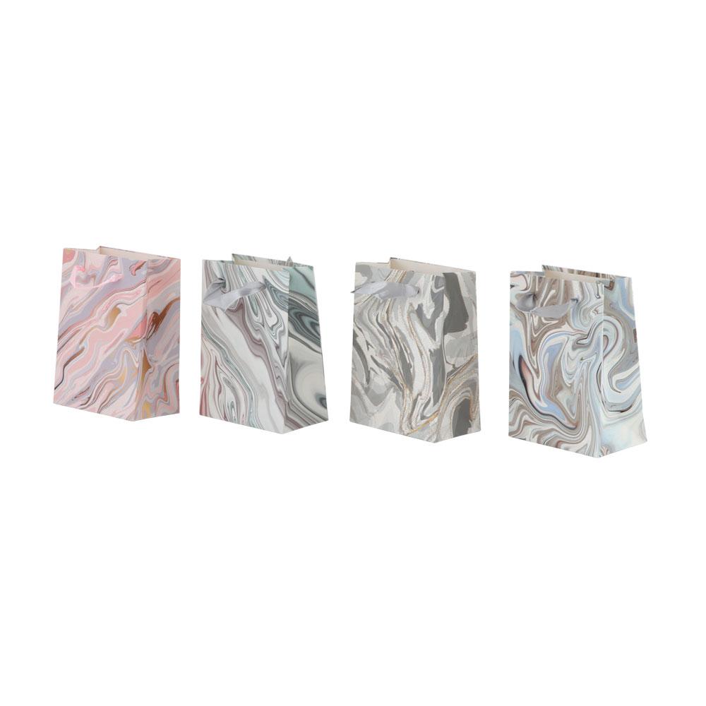 Small corrugated gift bag with satin ribbon holder متجر 15 وأقل