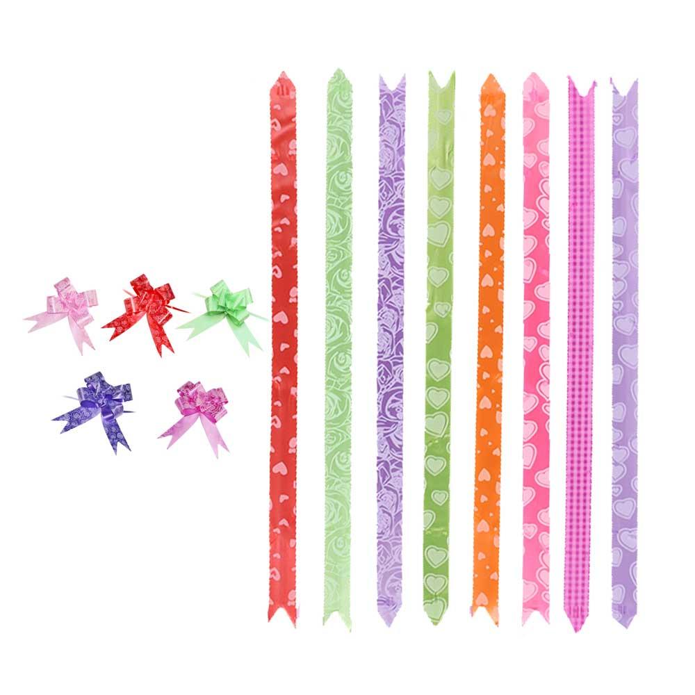 شريط هدايا وردة مشجر بألوان مختلفة 10 قطع 33 سم متجر 15 وأقل