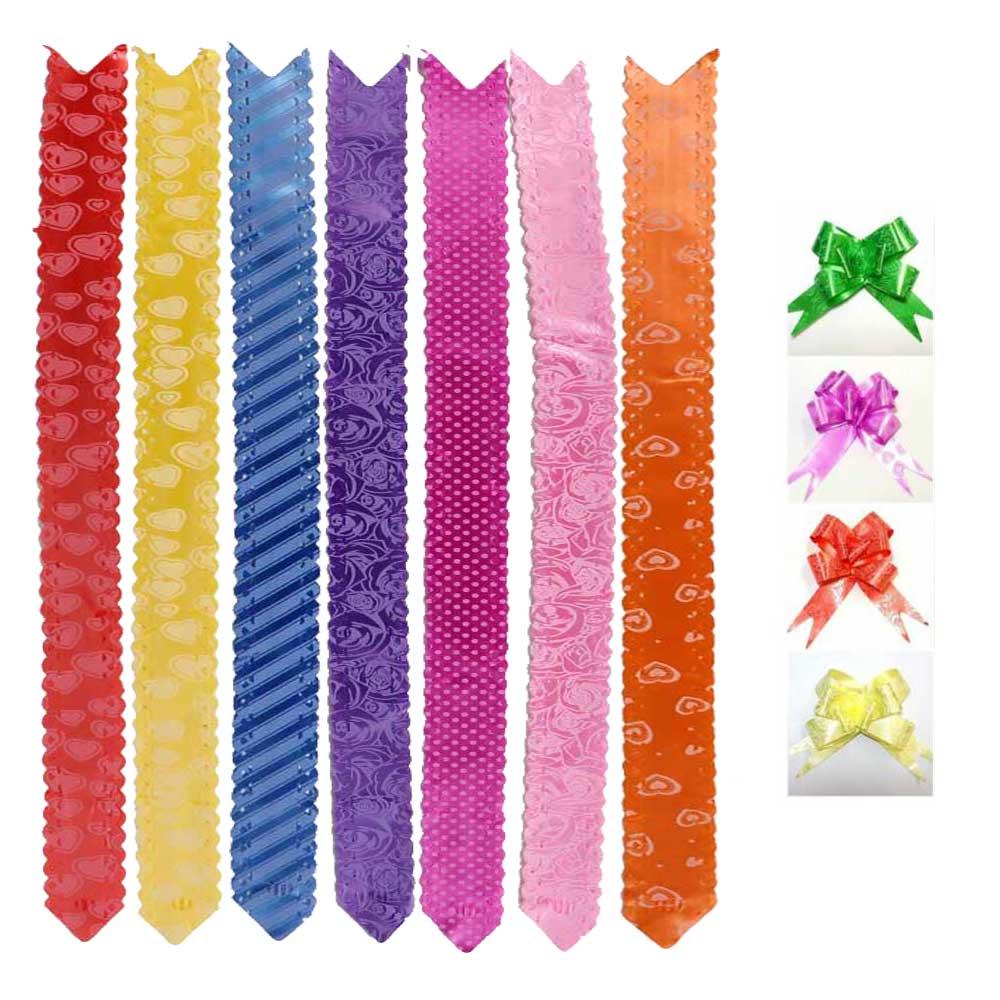 شريط هدايا وردة مشجر بألوان مختلفة 10 قطع 47 سم متجر 15 وأقل