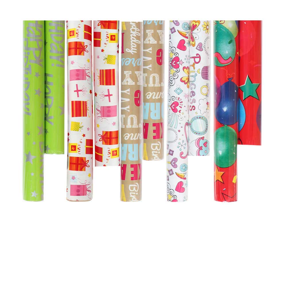 Wrapping paper wrapping paper in different shapes and colors 2m متجر 15 وأقل