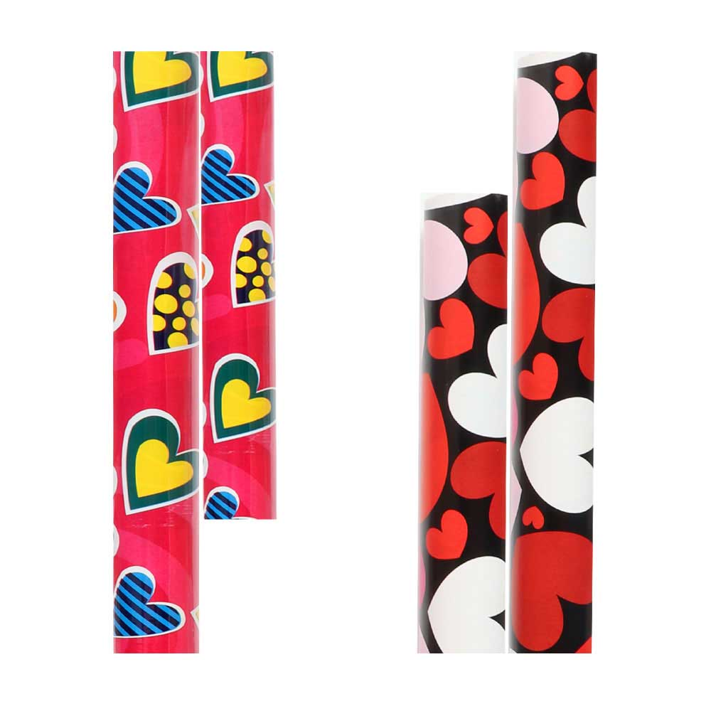 Wrapping paper wrapping paper in different heart shapes and colors 2m متجر 15 وأقل