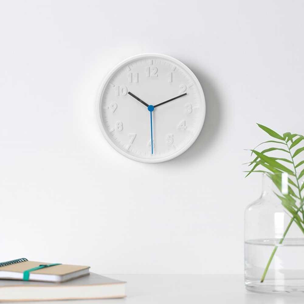 ساعة حائط، أبيض، 20 سم STOMMA متجر 15 وأقل