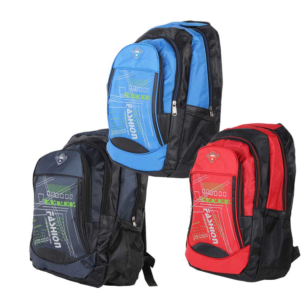 Noble school bag for boys red-blue متجر 15 وأقل