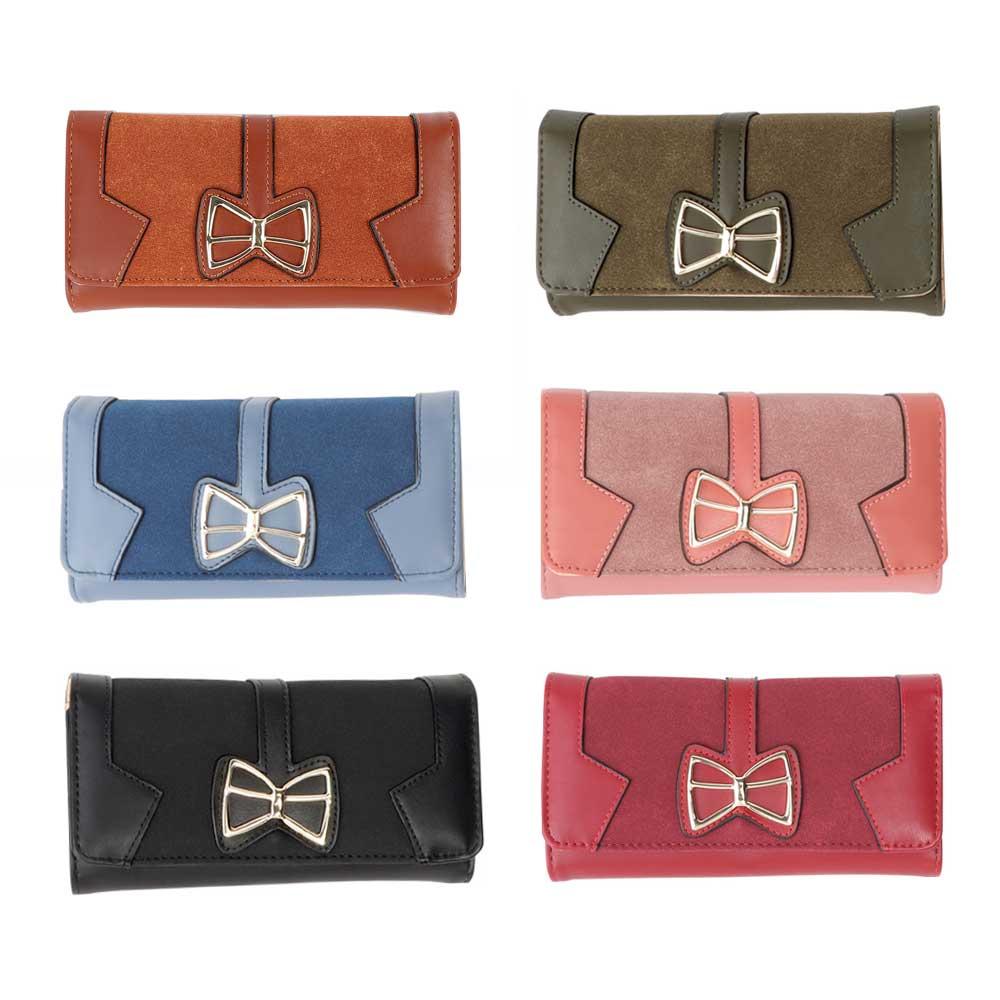 Leather wallet for women 10 * 19 cm Model 1 متجر 15 وأقل