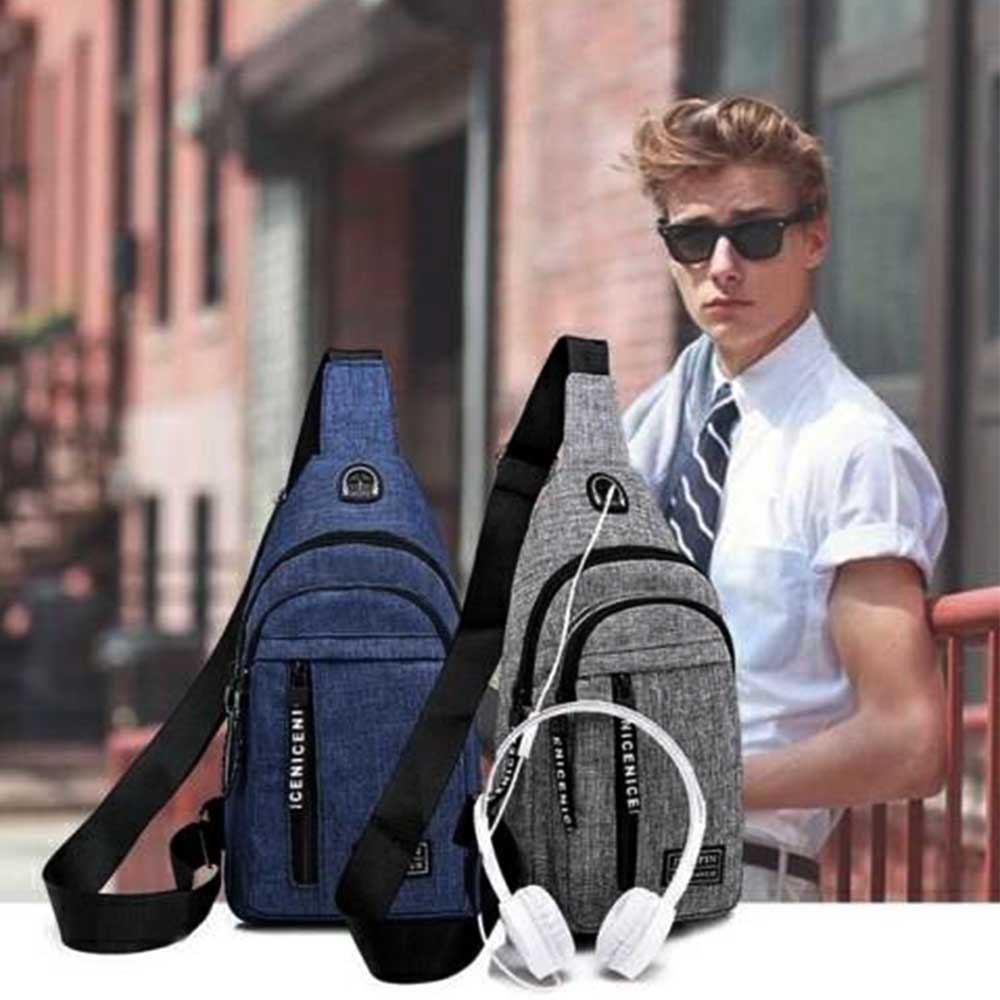Canvas backpack with long strap متجر 15 وأقل