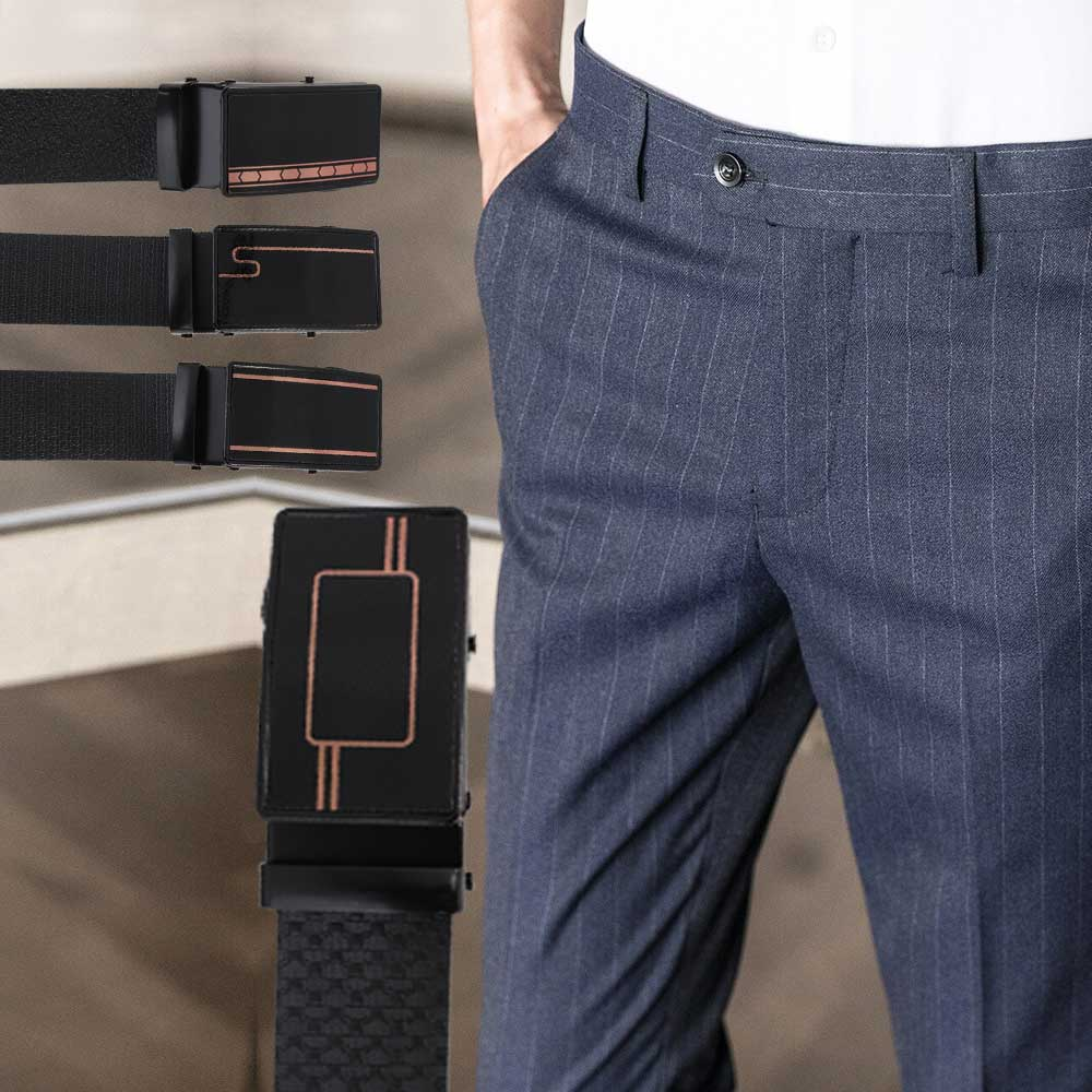 Men's black leather belt Model 1 متجر 15 وأقل