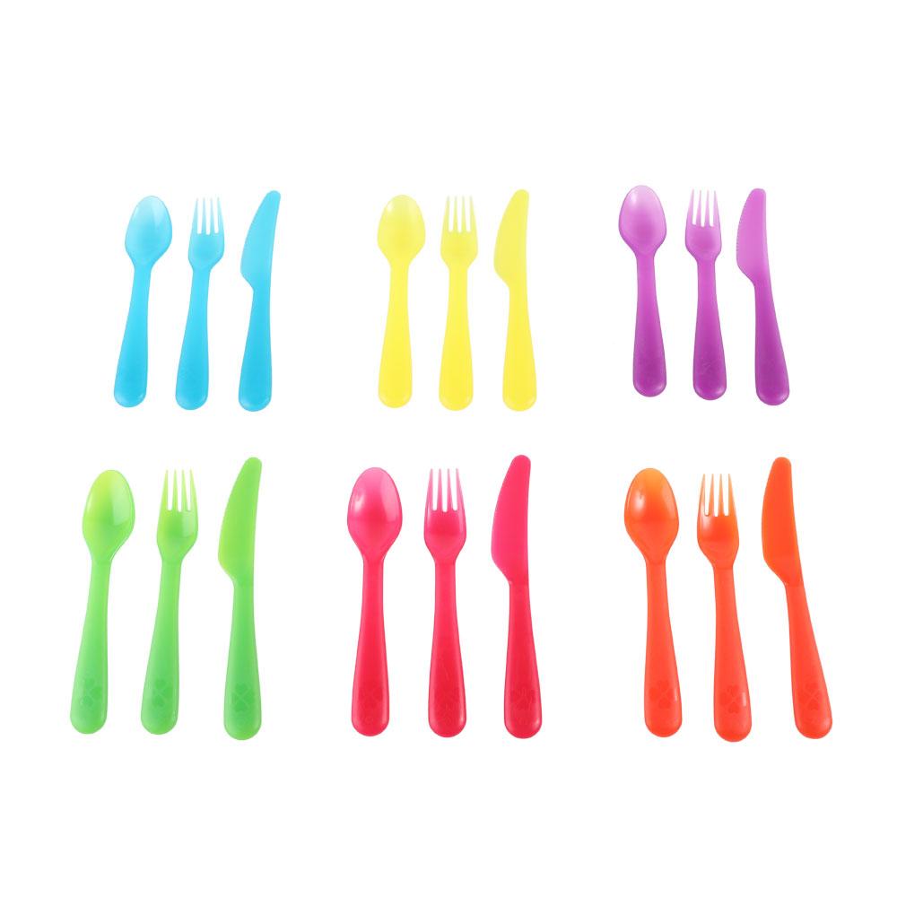 IKEA KALAS 3-piece transparent plastic eating utensil set متجر 15 وأقل
