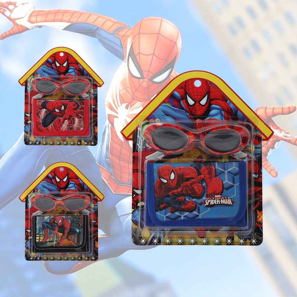 Wallet set with glasses of cartoon Spiderman for boys متجر 15 وأقل