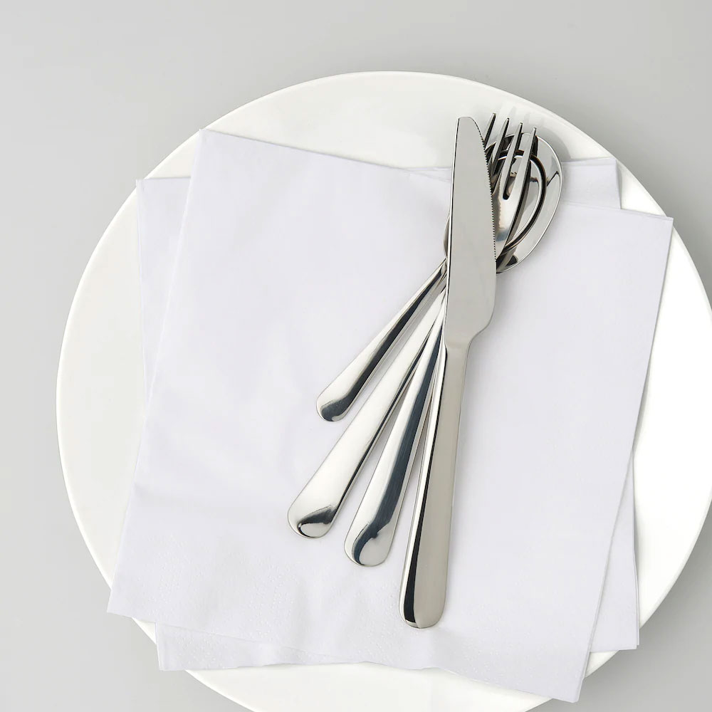 مناديل مربعة ملونة سادة لتنسيق المائدة أبيض متجر 15 وأقل