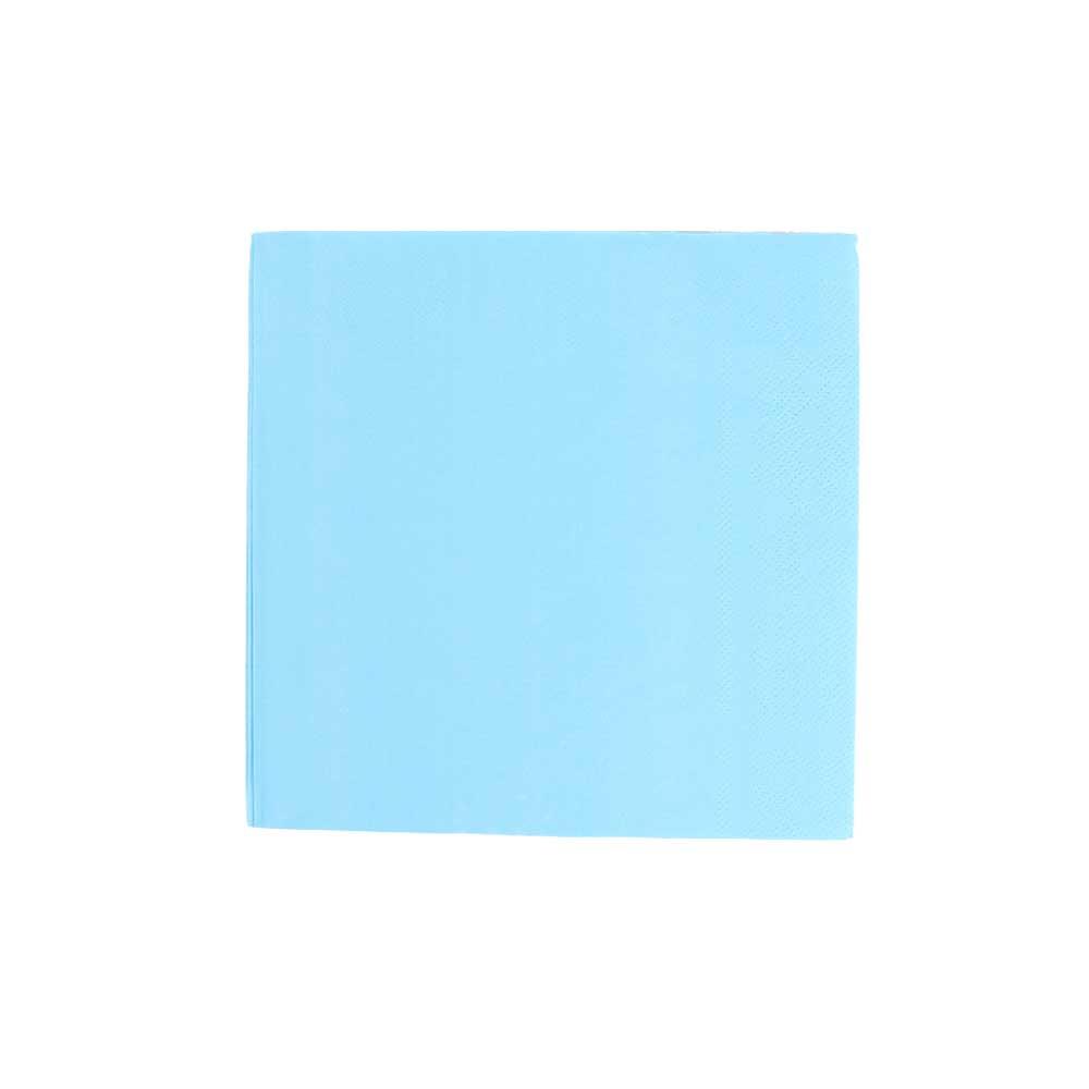 Plain square colored napkins for table arrangement blue متجر 15 وأقل