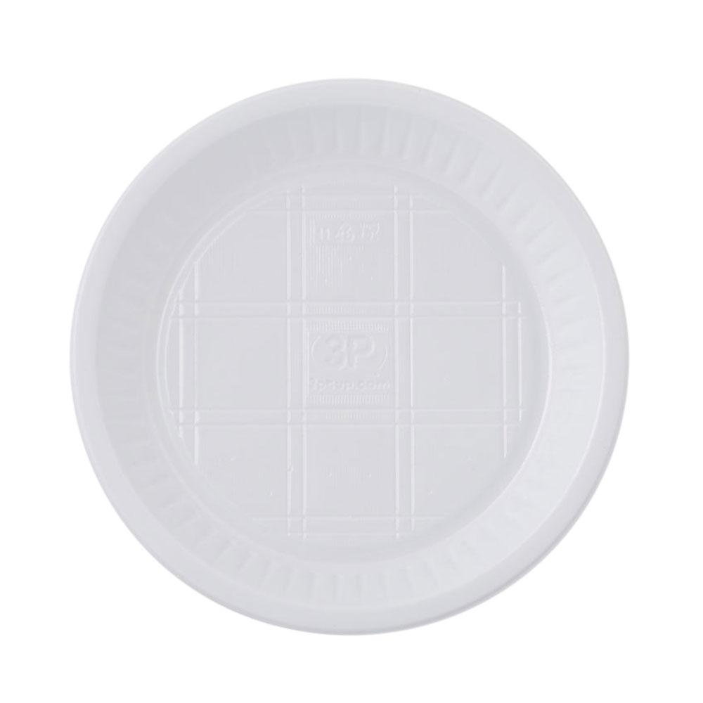3P صحون استهلاكية دائرية مقاس 18 - 50 قطعة متجر 15 وأقل