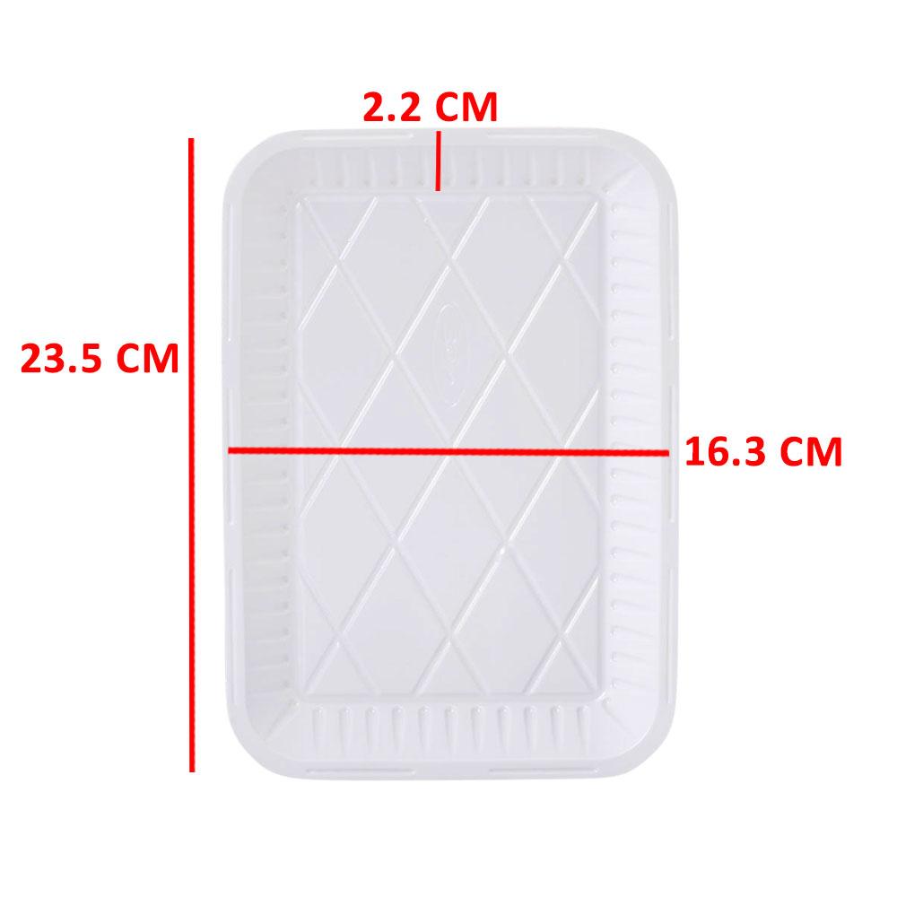 3P Disposable Rectangular Tray Size 3 - 25 Pcs متجر 15 وأقل