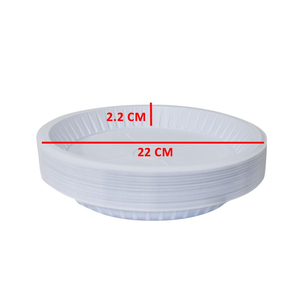 3P صحون دائرية استهلاكية مقاس 22 عدد50 قطعة متجر 15 وأقل