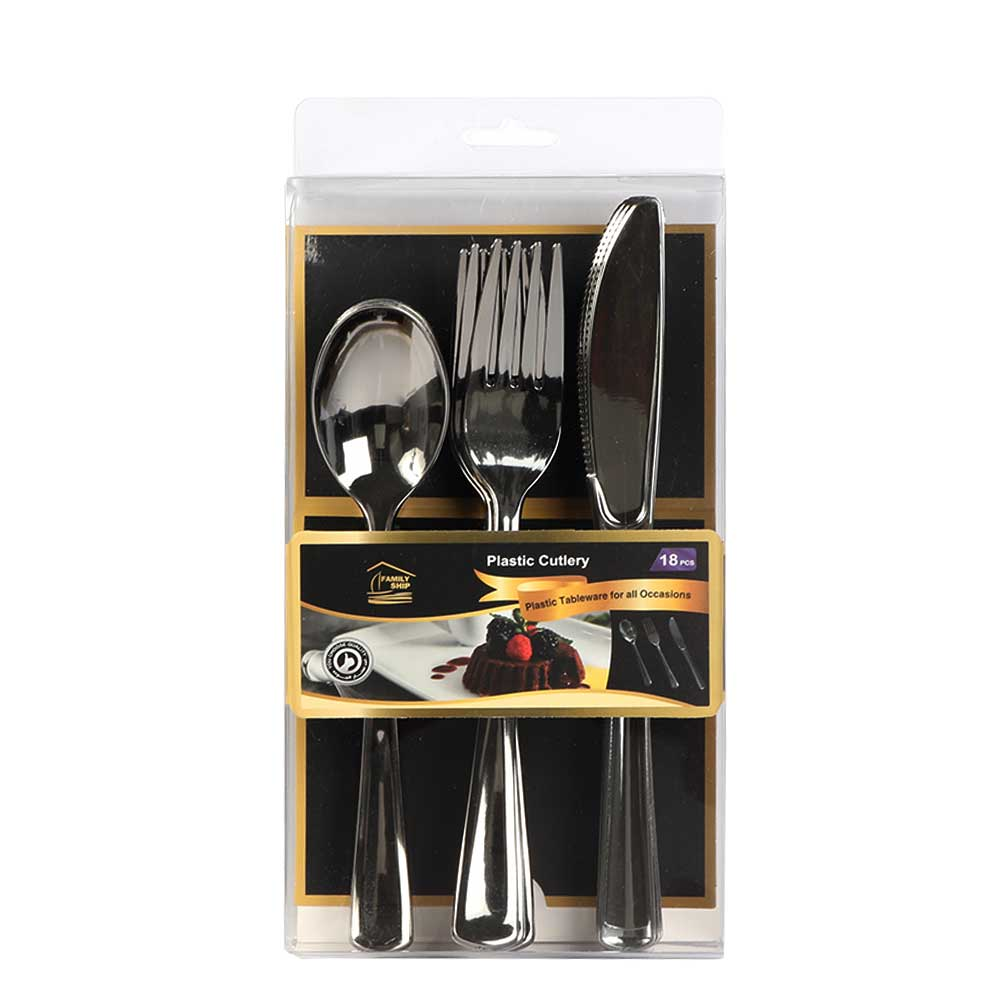 A Set Of Plastic Tableware 18-pieces متجر 15 وأقل