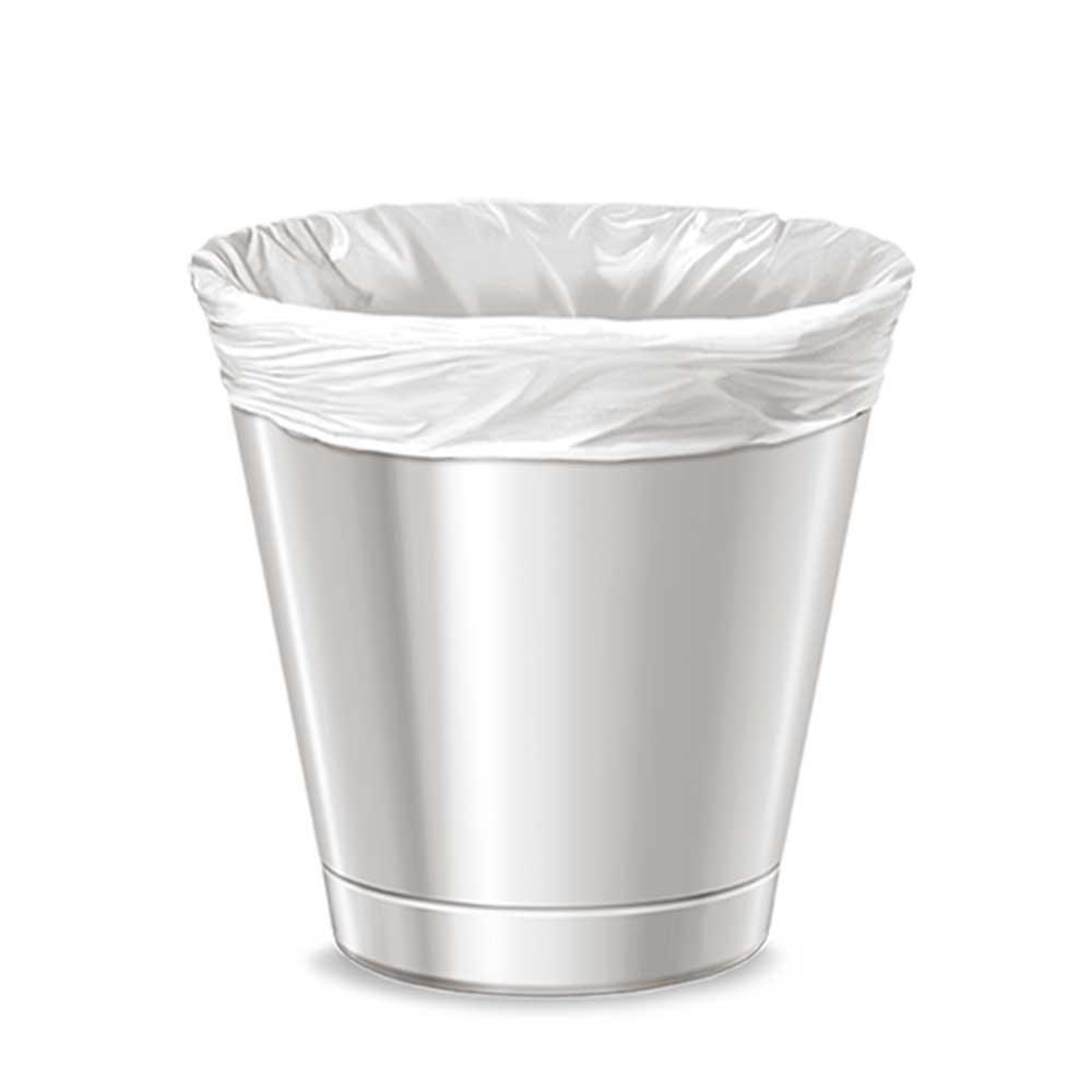 White plastic waste bags 8 gallon 30 bags متجر 15 وأقل