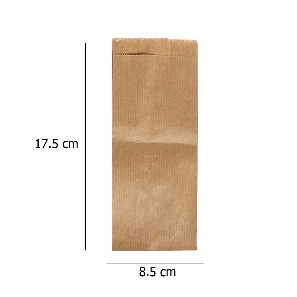Flat brown paper bag size1 50pcs متجر 15 وأقل