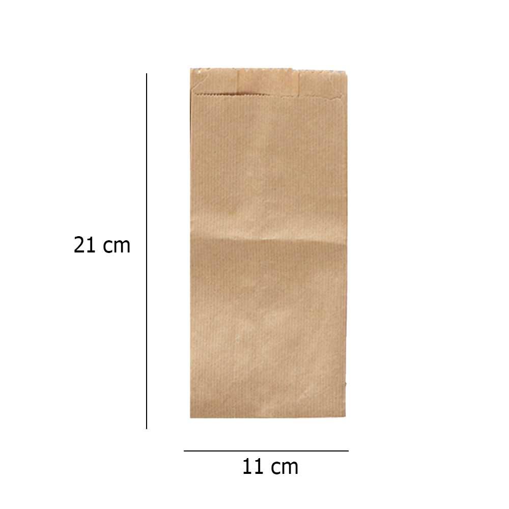 Flat brown paper bag size2 45pcs متجر 15 وأقل