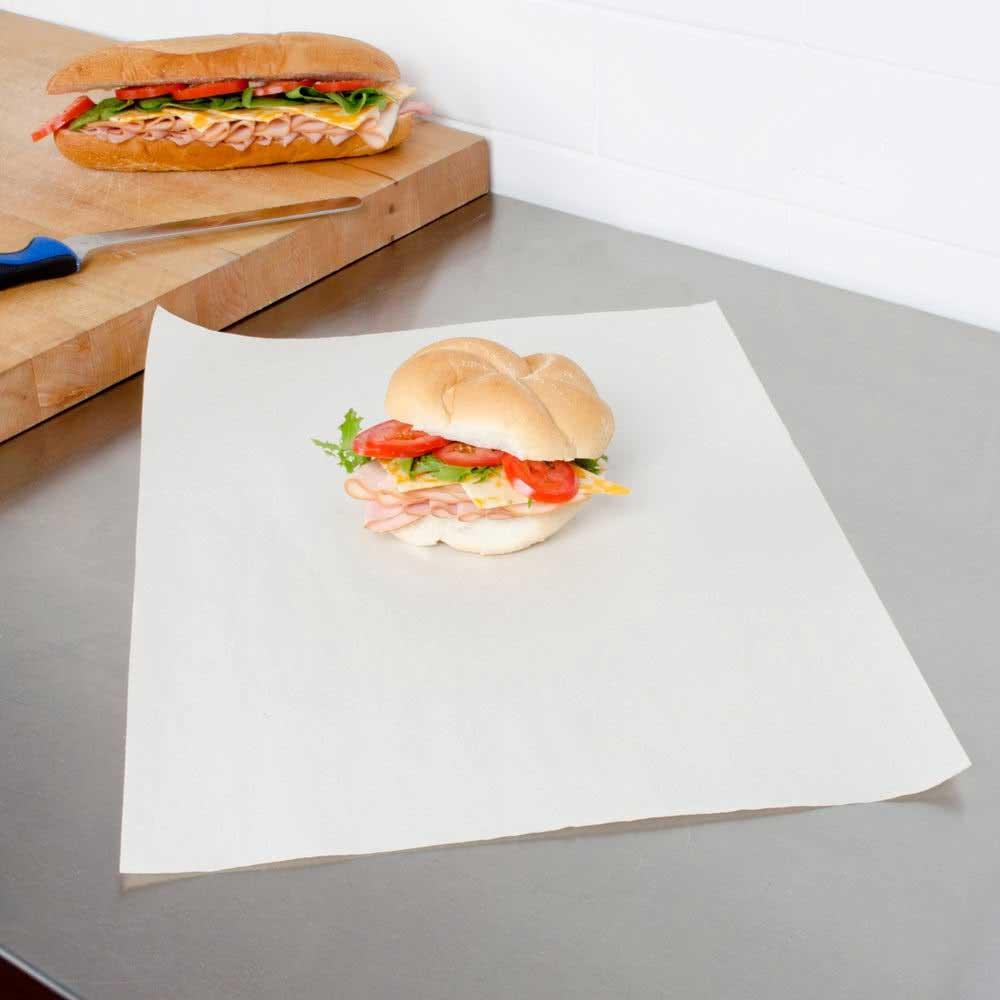 ورق لف ساندويشات ابيض ٤٥٠ ورقة متجر 15 وأقل