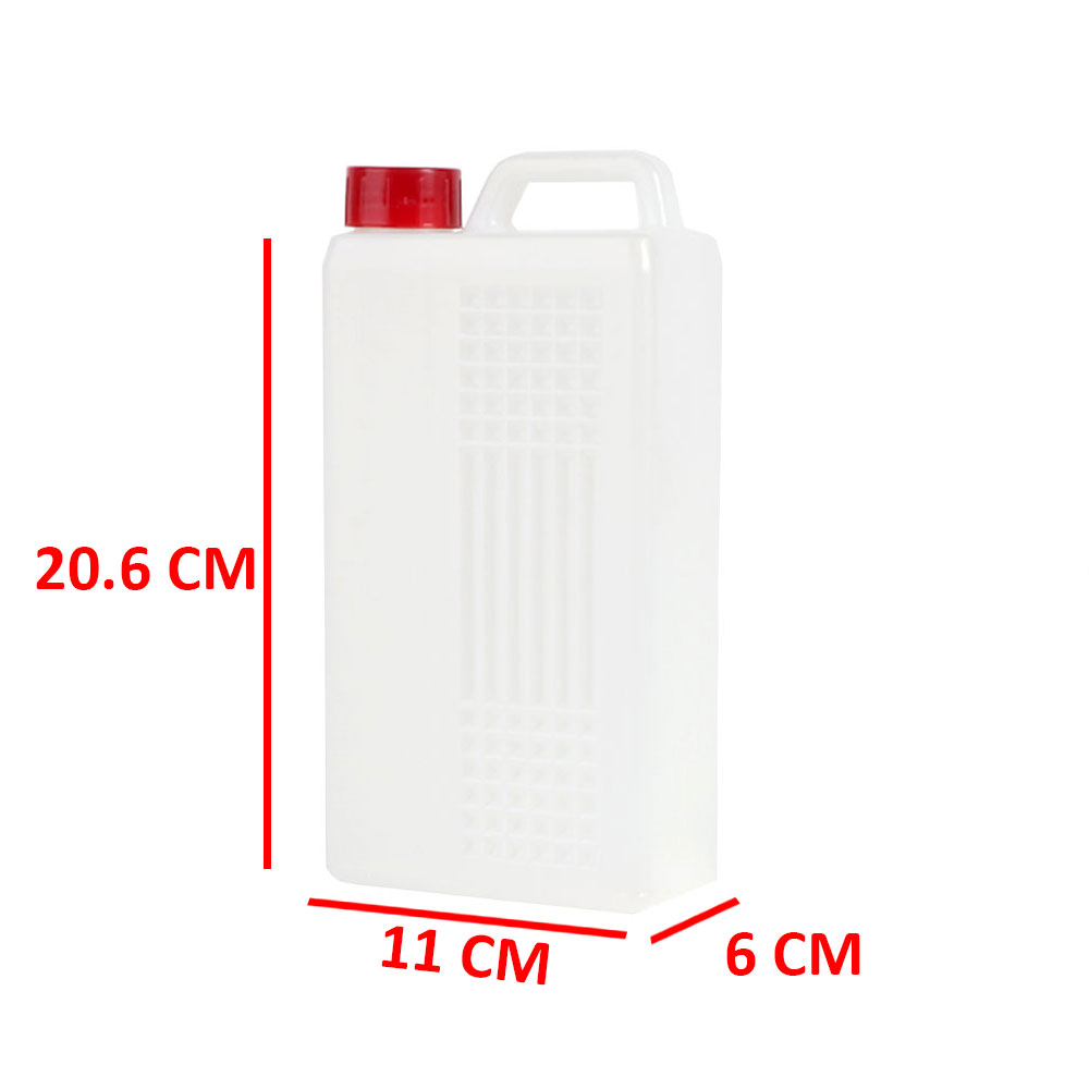 Transparent plastic gallon with cover 1.5 liter متجر 15 وأقل