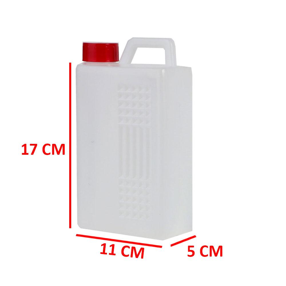 جالون بلاستيكي شفاف بغطاء 1 لتر متجر 15 وأقل