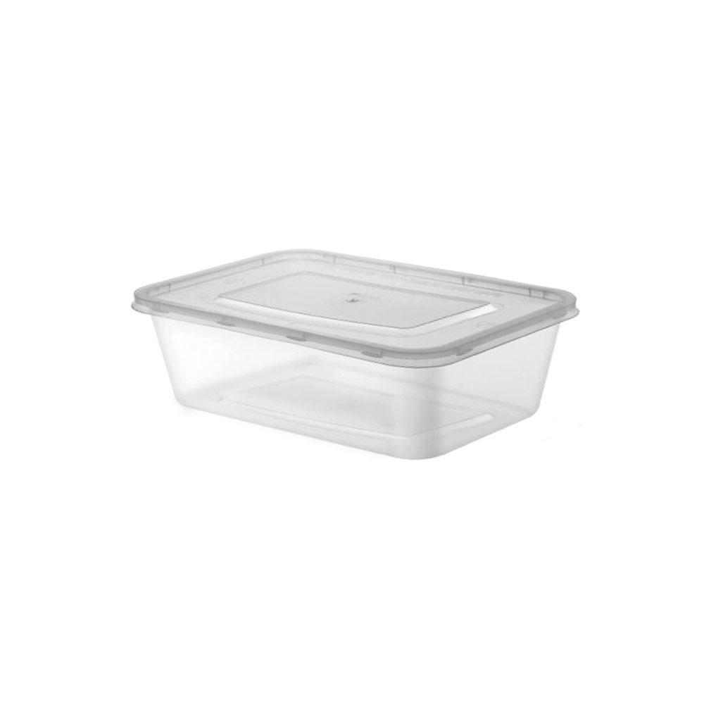 Transparent plastic boxes with lid medium size 8 pieces 500 ml متجر 15 وأقل