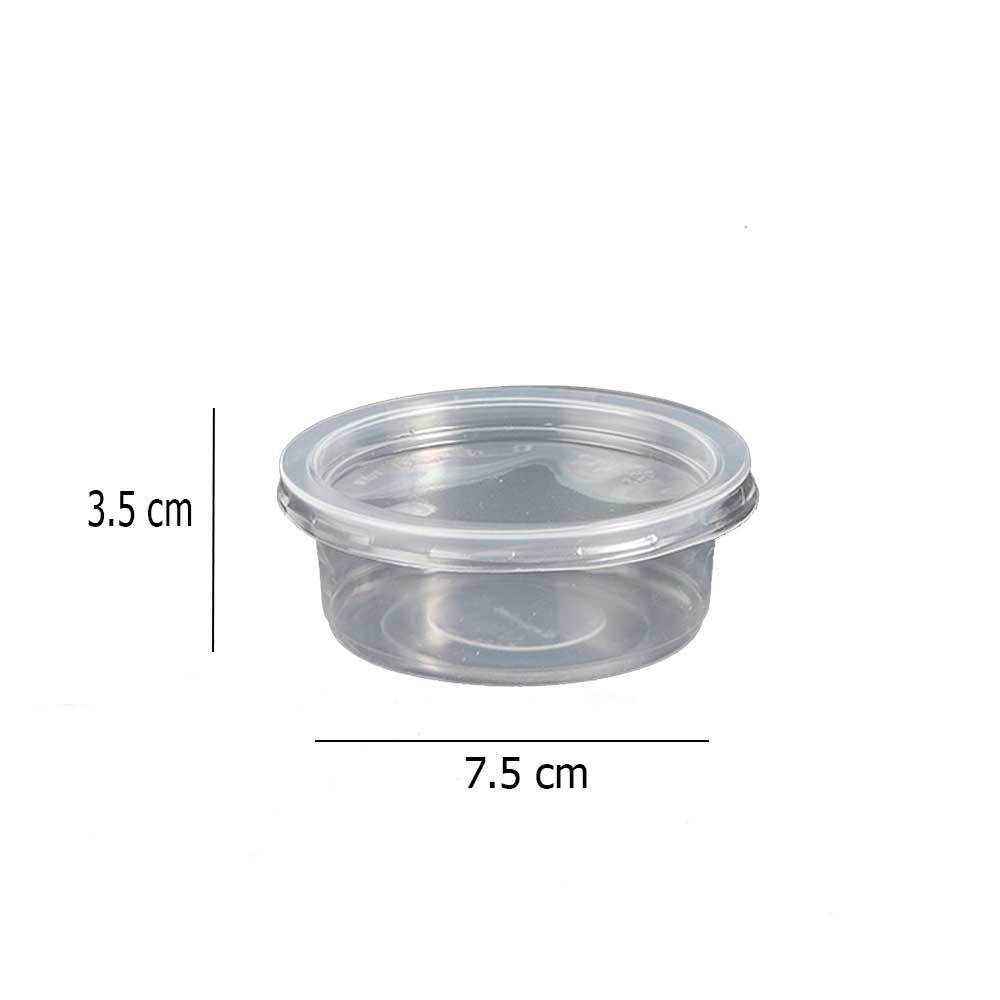 علبة بلاستيكية دائرية شفافة بغطاء شفاف 120مل 22 قطعة متجر 15 وأقل